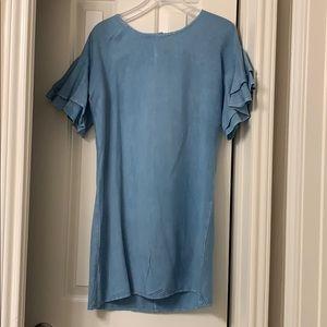 Dresses & Skirts - Brand New Light Denim Dress with Ruffles